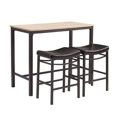 Riverbay Furniture 3 Piece Counter Height Dining Set in