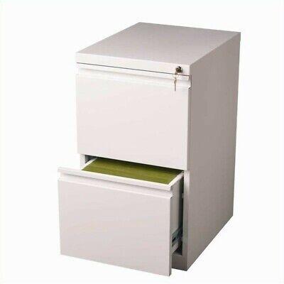 Scranton Co 2 Drawer Mobile File Cabinet In White