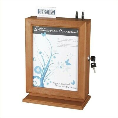 Scranton Co Customizable Wood Suggestion Box In Cherry