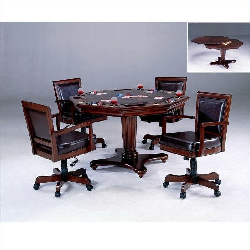 Hillsdale Ambassador Cherry Poker Table