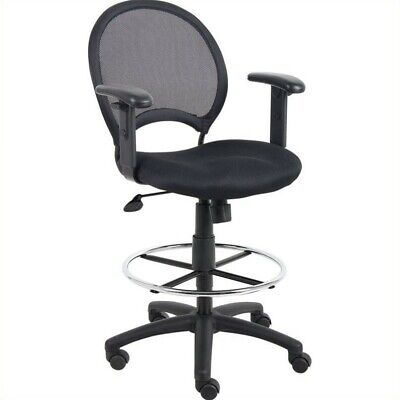 Boss Office Mesh Drafting Chair With Adjustable Arms