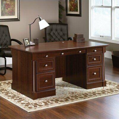 "Sauder 412902 Palladia Executive Desk, L: 65.12"" x W: 29.53"""