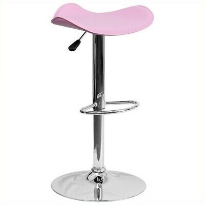 """Bowery Hill 25"""" to 33"""" Adjustable Bar Stool in Pink"""
