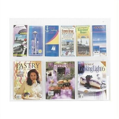 Safco Clear2c 3 Magazine and 6 Pamphlet - Clear2c Magazine