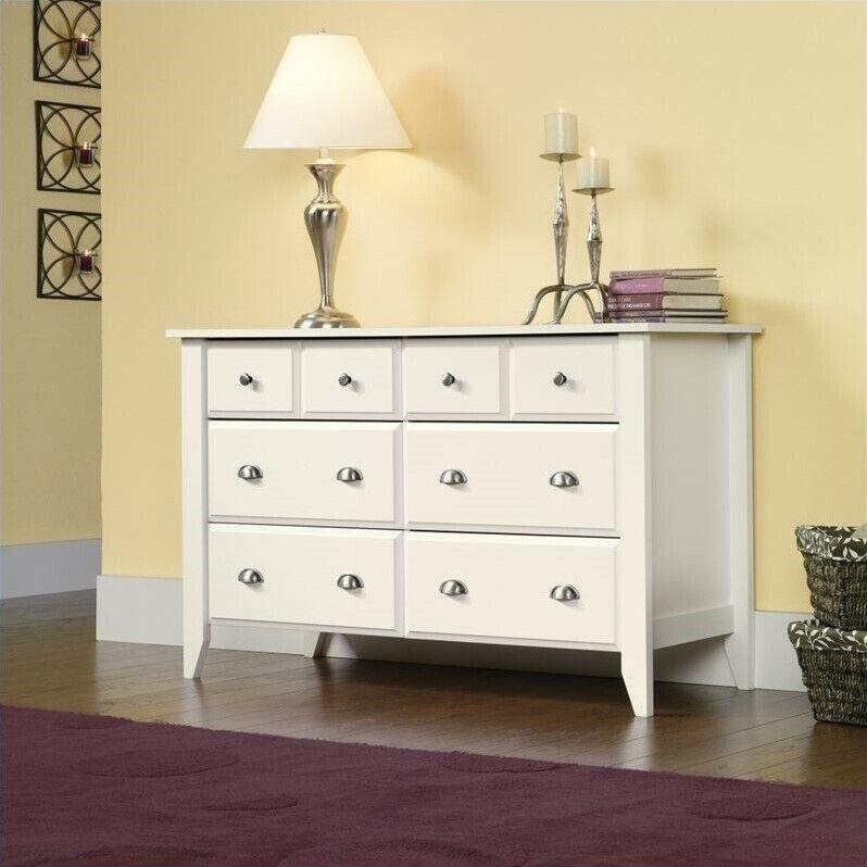 Sauder Shoal Creek 6 Drawers Dresser in Soft White