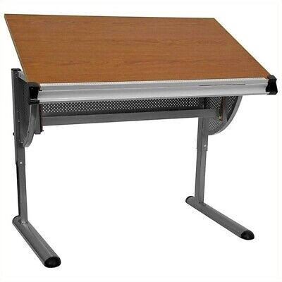 Flash Furniture Adjustable Drawing And Drafting Table In Pewter