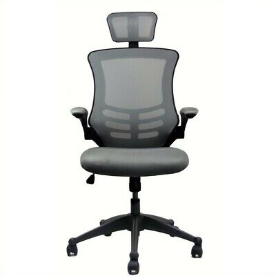 Scranton Co Executive High Back Office Chair With Headrest In Silver Grey