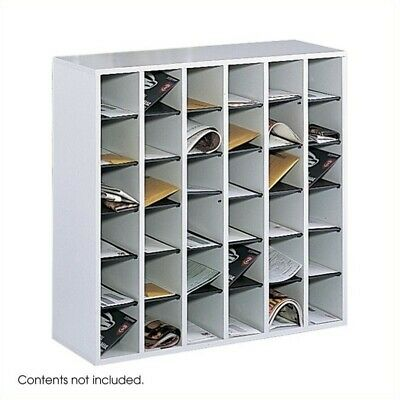 - Safco Wood 36 Compartment File/Mail Sorter