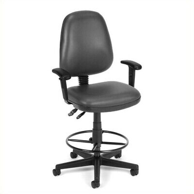 Ofm Straton Drafting Office Arm Chair In Charcoal