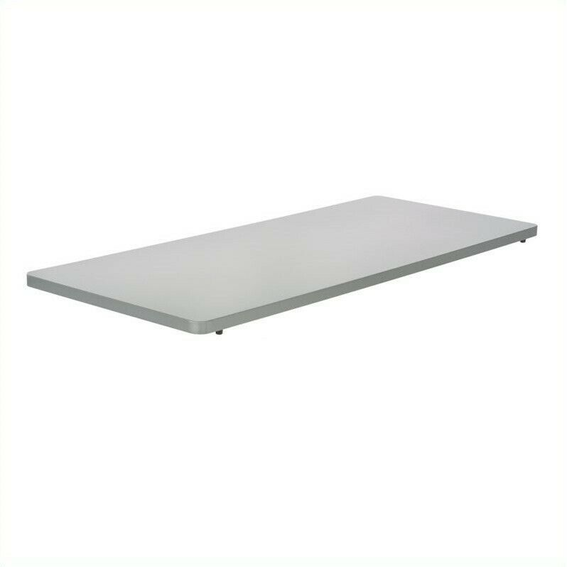 Safco Impromptu Mobile Training Table Rectangle Top 48x24 in Gray