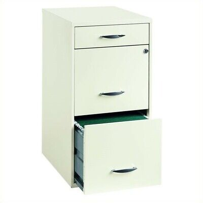 Scranton Co 3 Drawer Steel File Cabinet In White