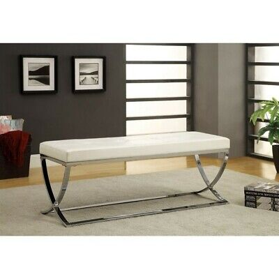 Bowery Hill Living Room Bench in White (Hill Living Room)