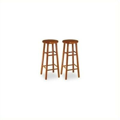 """Winsome 30"""" Backless Bevel Seat Bar Stool in Cherry (Set of 2)"""