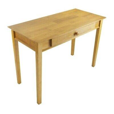 Honey Pine Desks - Scranton & Co Solid Wood Computer Desk in Honey Pine