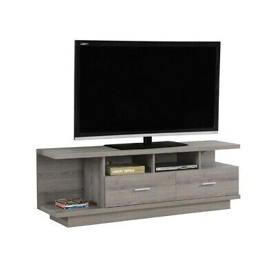 Modern TV Stand in Dark Taupe Finish