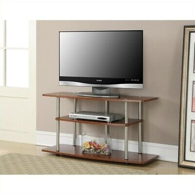 Cherry Wide Tv Stand - Pemberly Row 3 Tier Wide TV Stand - Cherry