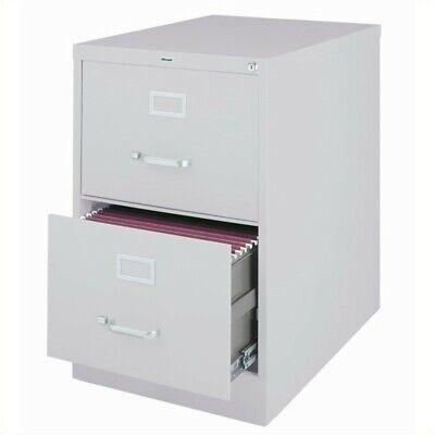 Hirsh 25 In Deep 2 Drawer Vertical Legal File Cabinet In Gray
