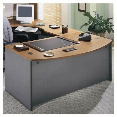 Bush Business Series C Left L-Shape Executive Desk in Natural (Cherry Bush Series)
