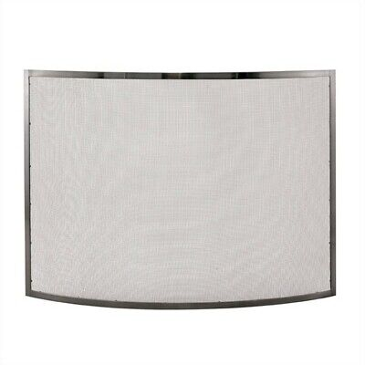 Single Panel Curved Pewter Finish Screen