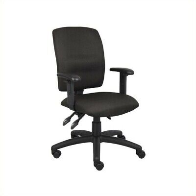 Boss Office Multi Function Task Office Chair with Adjustable Arms in Black (Boss Task Office Chair)