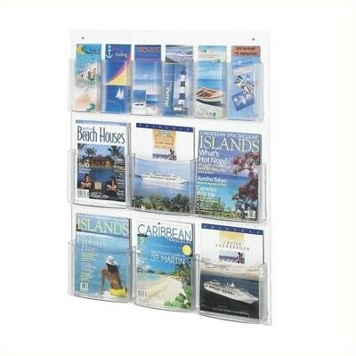 Safco Clear2c 6 Magazine and 6 Pamphlet - Clear2c Magazine