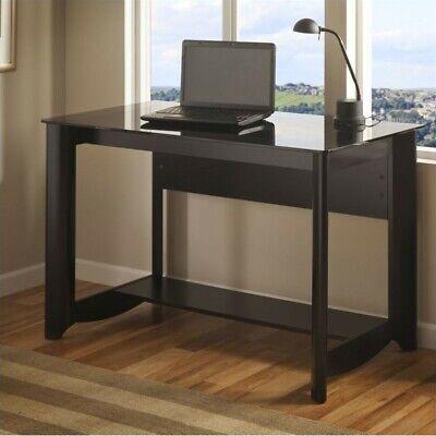 Bush Furniture Aero Collection Writing Desk in Classic Black
