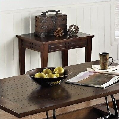 Steve Silver Company Crestline End Table in Distressed -