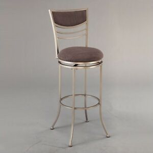 """Amherst 24"""" Swivel Metal Counter Stool in Champagne"""
