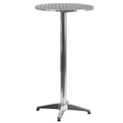 Flash Furniture Stainless Steel Top Round Folding Bar Table