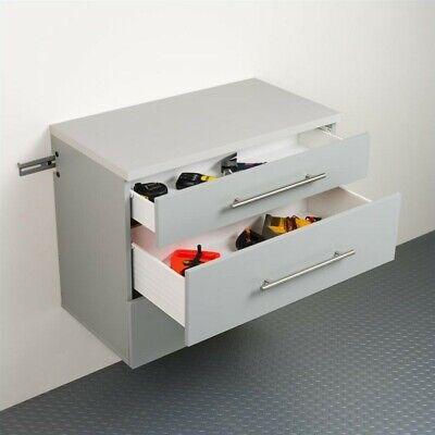 Prepac HangUps 3-Drawer Base Storage Cabinet in Light Grey Laminate ()
