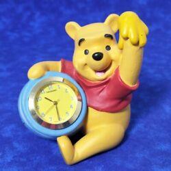 Disney Winnie The Pooh Honey Pot Desk Clock Fantasma Resin New Battery