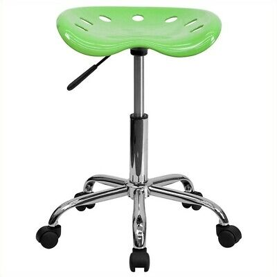 Flash Furniture Vibrant Chrome Adjustable Bar Stool In Apple Green