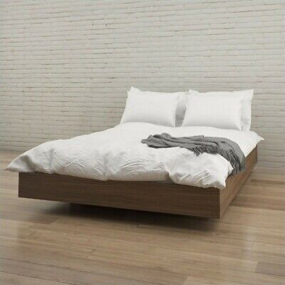 Nexera Alibi Queen Size Platform Bed Walnut