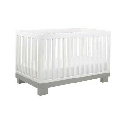 Babyletto Modo 3-in-1 Convertible Crib with Toddler Bed Conversion Kit in Gray