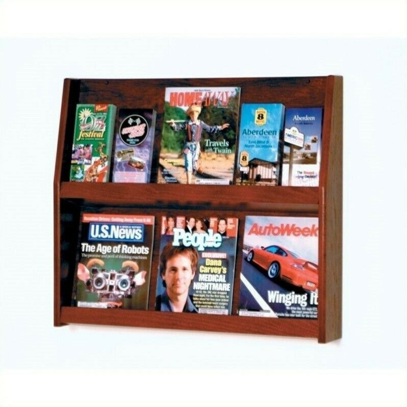 Wooden Mallet 12 Pocket Literature Display in Mahogany