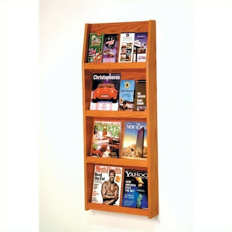 Pemberly Row Literature Display in Medium Oak