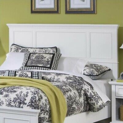 Home Styles Naples Idol Panel Headboard in Off-White