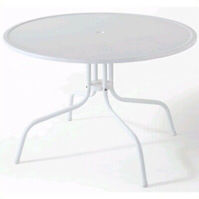 """Crosley Griffith 40"""" Metal Dining Table in White"""