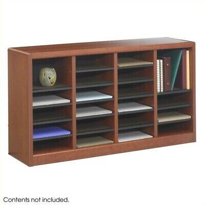 Safco E-z Stor 24 Compartments Wood Literature Organizer In Cherry