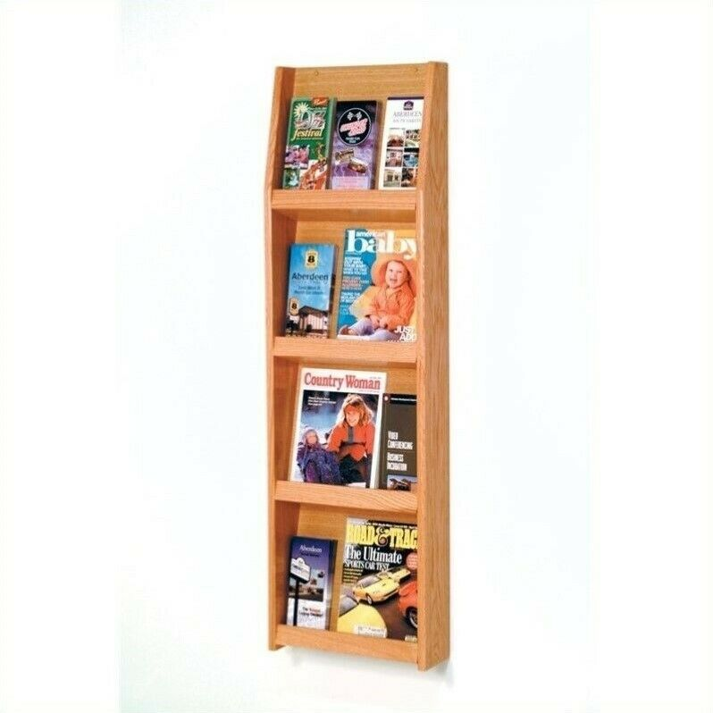 Pemberly Row Literature Display in 12 Pocket in Light Oak