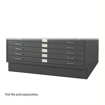 Safco Closed Low Base In Black Fits 4986 And 4996 Flat File Cabinets