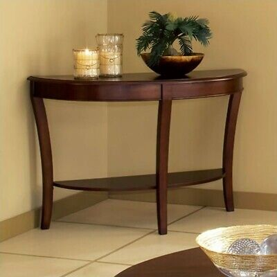 Steve Silver Company Troy Sofa Table in Cherry -