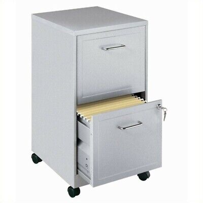 Space Solutions Soho Mobile 2 Drawer File Cabinet In Silver