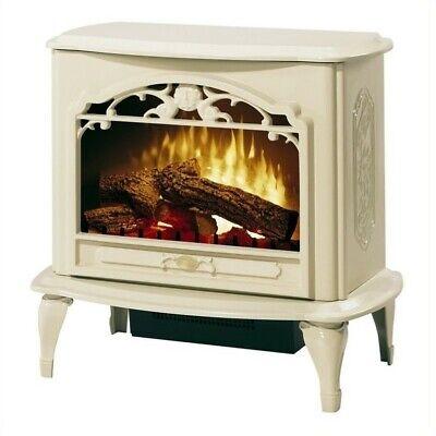 Bowery Hill Stoves Celeste Electric Fireplace Stove Heater in - Cream Electric Fireplace