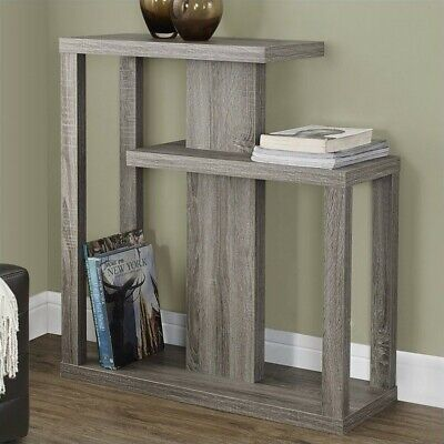 Monarch Specialties Dark Taupe Reclaimed-Look 32x12 Hall Console Accent Table