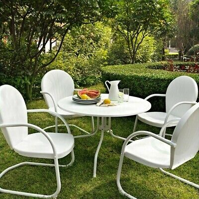 "Crosley Furniture Griffith Metal 40"" Five-Piece Outdoor Dini"
