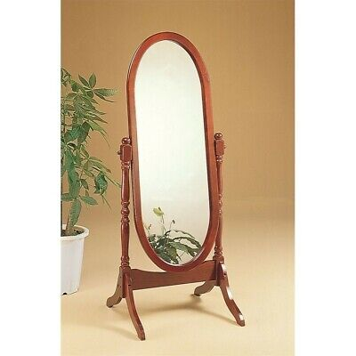 Cherry Oval Cheval Mirror (Coaster Oval Cheval Mirror in)