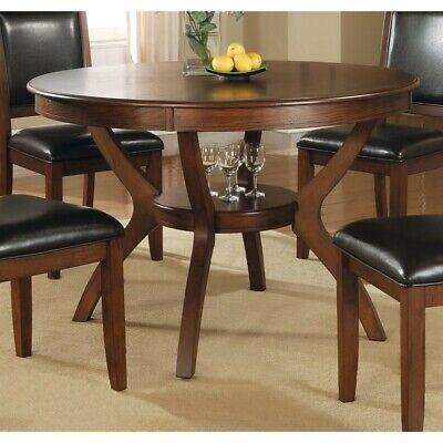 Coaster 102171 Nelms Round Dining Table With Storage Shelf I