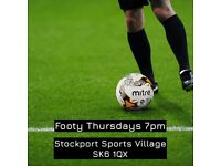 5 a side Footy - Stockport - Thursdays 7pm | football 7 game match team manchester cheadle woodley