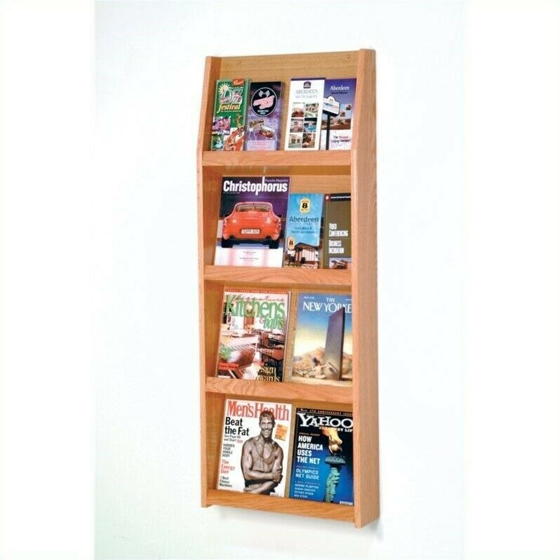 Wooden Mallet Literature Display in Light Oak